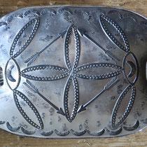 "4291 Navajo Ingot Silver Footed Ash Tray c.1920 2x3.5"" $195"