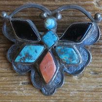 "4177 Navajo/Zuni Butterfly Pin c.1930-50 1.25x1.5"" $195"