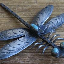 """4176 Navajo Dragonfly Pin c.1950-60 2.75x3"""" $350"""