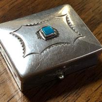 """Navajo Pill Box c.1940 1.375x1.625"""" $285"""