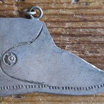 """4971 Navajo Moccasin pendant early 20th c. 1x1.75"""" $150"""