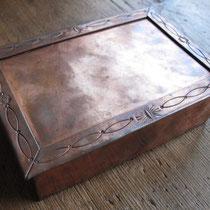 "1183 Navajo copper box c.1930-50 4.5x6.5"" $650"