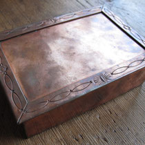 "1183 Navajo copper box c.1930-50 4.5x6.5"" $650"