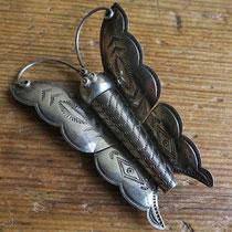 "3926 navajo butterfly pin c.1950 1.75x2.75"" $265"