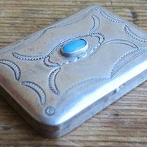 """4751 Navajo Pill Box c.1950 1.25x1.75"""" $195"""