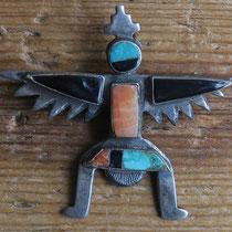 """4300 Zuni Knifewing Pin c.1930 1.5x1.625"""" $295"""