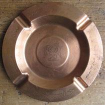 "3445 navajo copper trading post tray c.1950, 5.75"" $95"