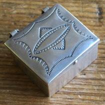 """5000 Navajo Pill Box c.1940 .875x1x.5"""" $95"""