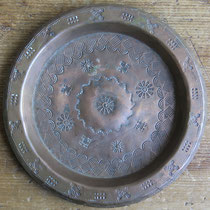 "4682 Navajo Copper Tray c.1930 5.375"" $295"
