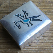 """4351 Navajo Pill Box c.1960 1.5x1.25"""" $285"""