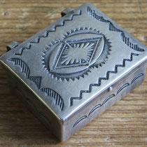 """4694 Navajo Pill Box c.1930-60 1.125x1.125x.5"""" $195"""