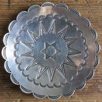 """5409 Navajo Silver Tray c.1940 3"""" $195"""