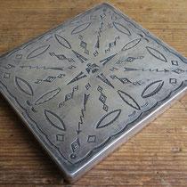 """4110 Navajo Cigarette Box c.1930 3.25x3.5"""" $1200"""