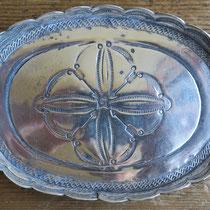 "4514 Navajo Ingot Silver Tray c.1920 3x4"" $250"