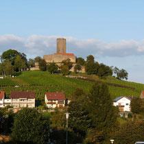 Der Blick auf die Burg - direkt vorm Haus