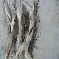 Würfel WEISS (H-B-T 20 x 20 cm, in tiefem Buche-Schattenfugenrahmen)