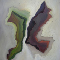 gegen...einander (110 x 140 x 4 cm)