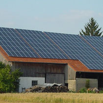 alkaSOL / EST project: Siemens pv-installation on a barn in Haidlfing, Wallersdorf  -  2002