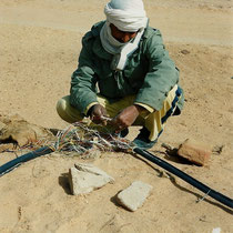 alkaSOL project: cable works in the desert - Sudan 2004