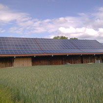 alkaSOL / EST project: barn, covered with alkaSOL PV-modules
