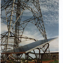 alkaSOL project: 1999  -  PV-unit at Nitel transmission station in Kano, installed 1999 by EST as subcontractor for Siemens AG Munich