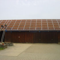 alkaSOL / EST project: PV-site: Schütz in Ganaker / Landau -installation of module structure