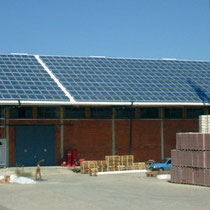 alkaSOL / EST project: PV-system on warehouse