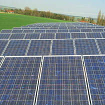 alkaSOL / EST project: sharp modules at photovoltaic plant on a flat roof - Arnstorf