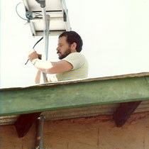 alkaSOL project: installation of small PV power supply on train station in Tanzania 1988