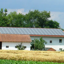 alkaSOL / EST project: Schott photovoltaic on a farmhouse in See, Bavaria