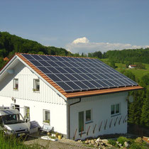 alkaSOL / EST project: Solon photovoltaic, installed by EST in Bavarian forest / Bayrischer Wald