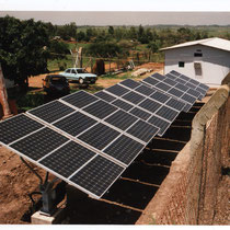 alkaSOL project: 1999  -  photovoltaic arrays in Ashu Hill, for telecommunication company NITEL / Nigeria