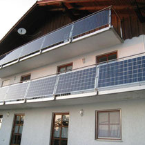alkaSOL / EST project: Geiselhöring - modules on balcony