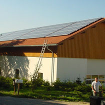 alkaSOL / EST project: Siemens Solar panels installed by EST 2003 near Dingolfing
