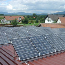 alkaSOL / EST project: elevated Kyocera PV-system - Osterhofen
