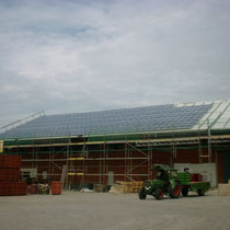 alkaSOL / EST project: Essenbach -  100 kWp Shell modules on warehouse