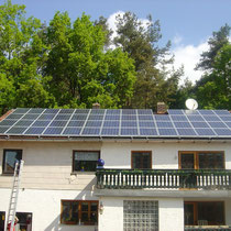 alkaSOL / EST project: Shell PV-installation in Eggenfelden, Bavaria 2000