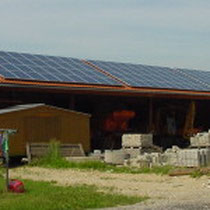 alkaSOL / EST project: Sharp PV panels on Bauhof Frontenhausen, installed in 2000 by EST