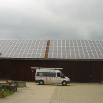 alkaSOL / EST project: PV-site: Schütz in Ganaker / Landau - with installed Sharp photovoltaic modules