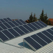 alkaSOL / EST project: Solar PV-modules - elevated installation on roof