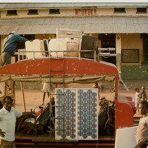 alkaSOL project:  1989  -  PV-module on a train - power supply for Tanzanian railways