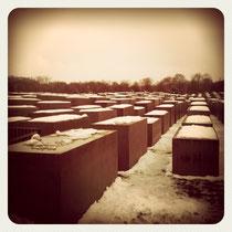 Holocoust Denkmal im Schnee