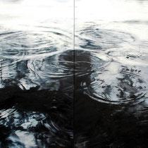 Circles No. 4, 2017, Öl auf Leinwand, zweiteilig, 180 x 220 cm,  * = verfügbar