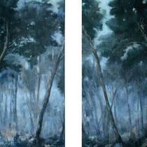 Kiefern, 2012, Öl auf Leinwand, je 160 x 115 cm, *