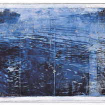 See, 2003, Holzschnitt / Öl auf Leinwand, 85 x 145 cm *