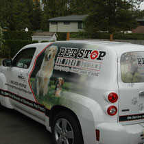 Pet Stop Dog Fence and Cat fence Service Van - We Service ALL Brands of Electronic, Invisible Dog Fences and Cat Fences.