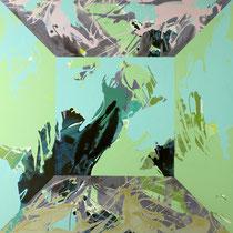 raum I - acryl auf leinwand, H 100 x B 100 cm