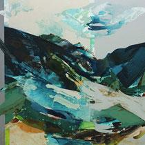 wind über dem land II - acryl auf leinwand,  H 100 x B 100 cm