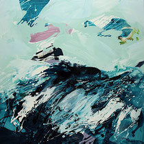 wellen I - acryl auf leinwand,   H 100 x B 100 cm
