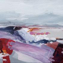 landschaft pink - acryl auf leinwand, H 45 x B 130 cm